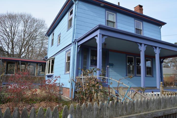 Casa de colores vivos, East Side, buen sitio