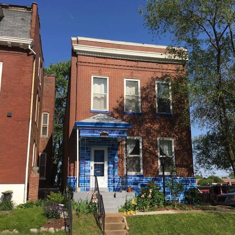 The Blue House off Cherokee Street.