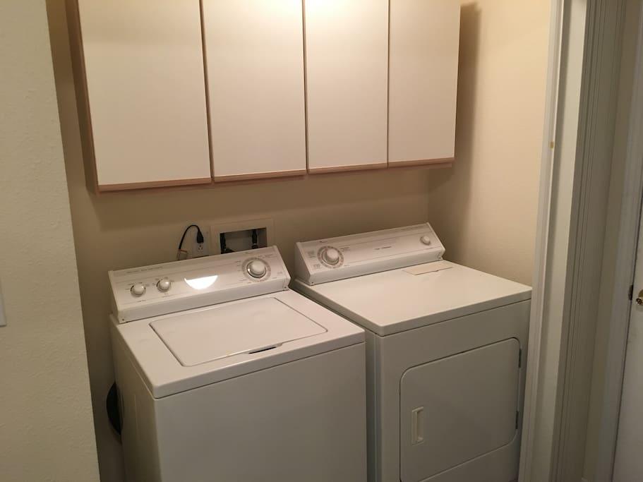 full laundry access