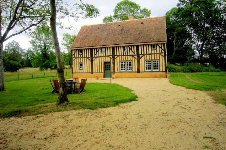 Modernised detached half-timbered house on the estate of a 16th century castle