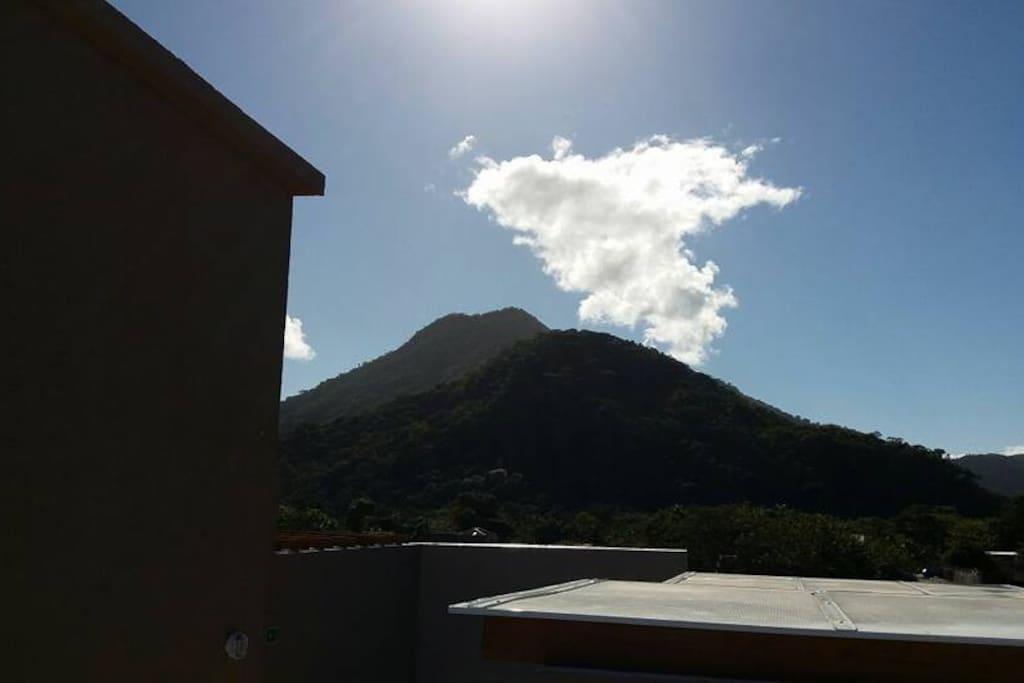 Vista do terraço das montanhas