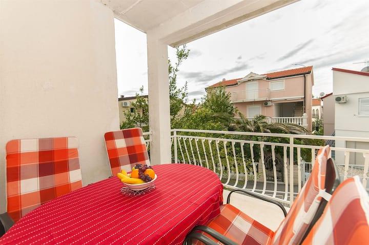 Two Bedroom Apartment, seaside in Rogoznica, Balcony