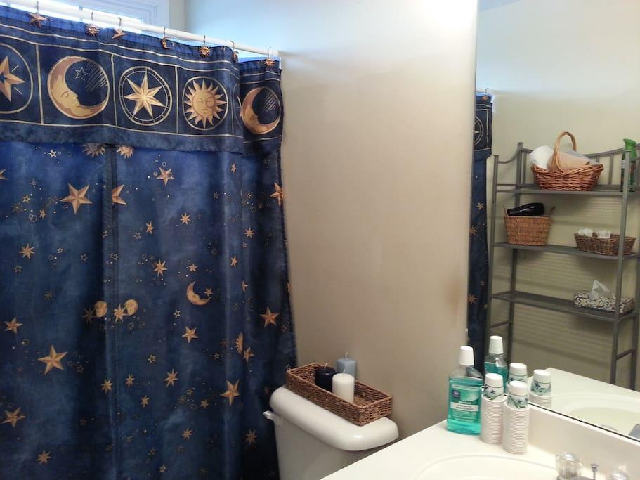 Some toiletries provided, shampoo, conditioner , blowdryer, etc.