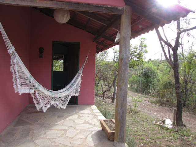 Casinha Rosa - Beira do Almas no Sítio Lavrinhas - Pirenópolis