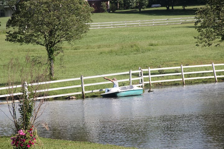 You can fish in the lake and enjoy the paddle boat.