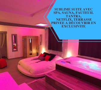 Suite Cupidon AMBRE - Spa et sauna privatif