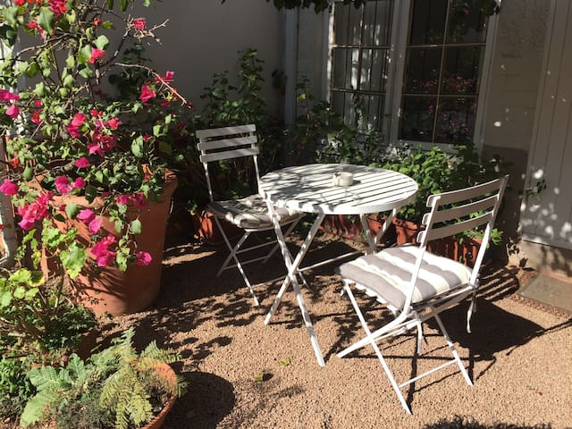 Small Patio with Bistro Table & Chairs