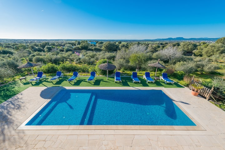 SA PEDRERA Finca for 8 with pool in Campos