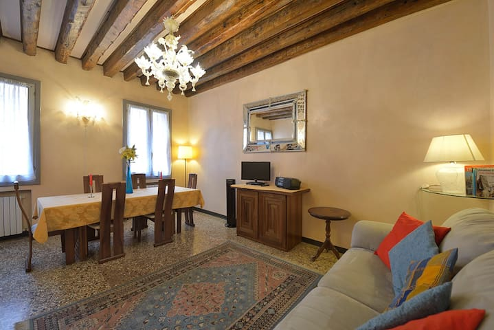 The apartment is in the heart of Venice.