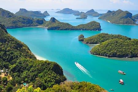 Camping + Private Catamaran in Angtong Marine Park - Lägenhet
