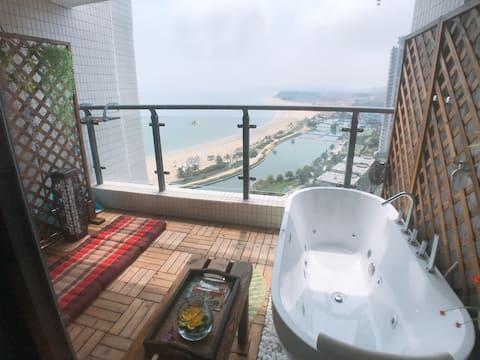 【带按摩浴缸+按摩椅+卡拉OK】海陵岛敏捷黄金海岸东南亚风情SPA房 【全敏捷只此一家】