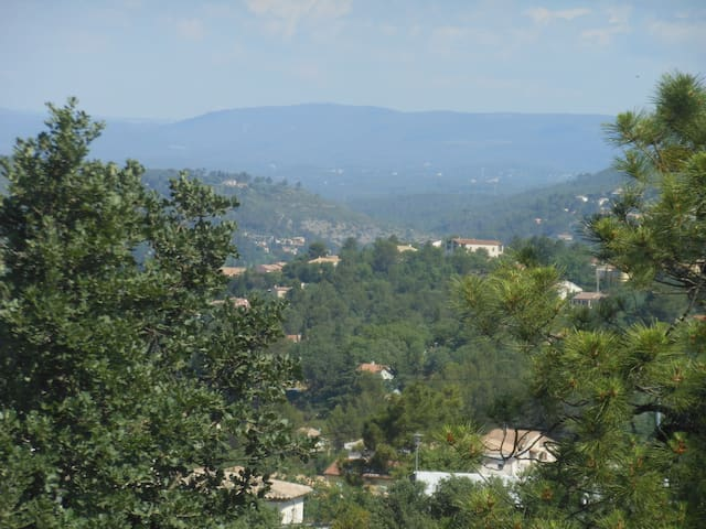 sitting on the top terrasse... photos can't capture the true quiet serenity of  this view across the heart of Provence.