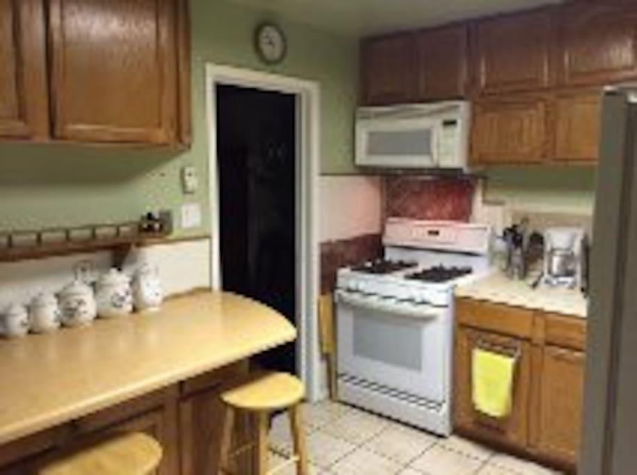 The Kitchen- Microwave, dishwasher,
