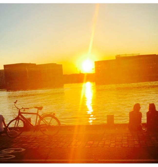 Just outside the apartment. Wonderful Copenhagen