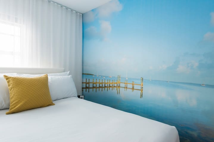 Stylish Double Room (1 minute walk to beach)