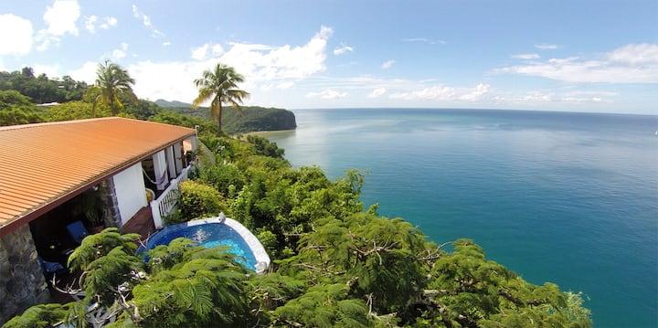 Emerald Hill Villa - 270° View of the Bay & Ocean