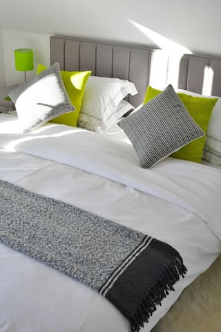 Luxuriate under down duvets and Egyptian cotton sheets.