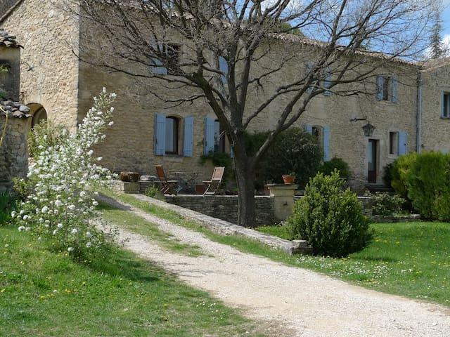 Mas en pierre au coeur de Luberon,piscine, vue