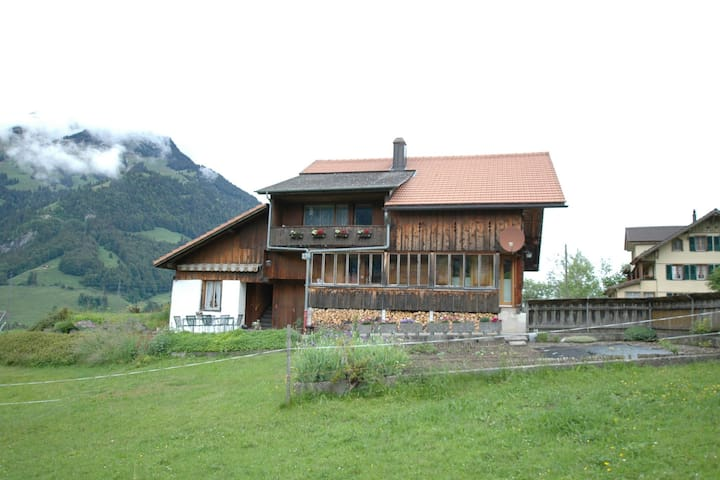 Cosy ground floor apartment with privat terrace and great views