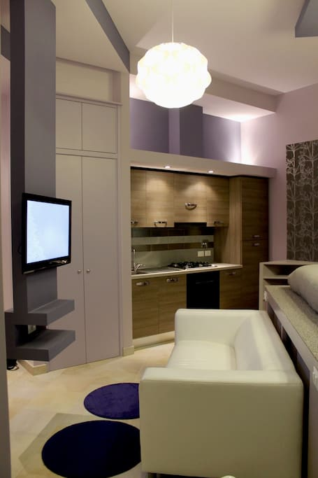 living room area with tv