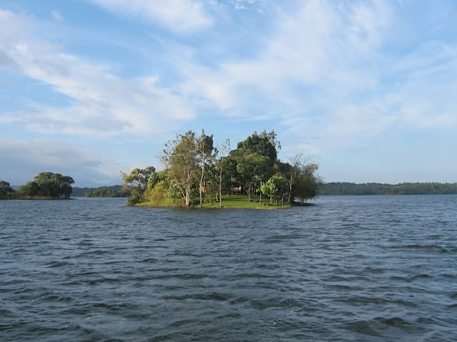 View of the island from the North.
