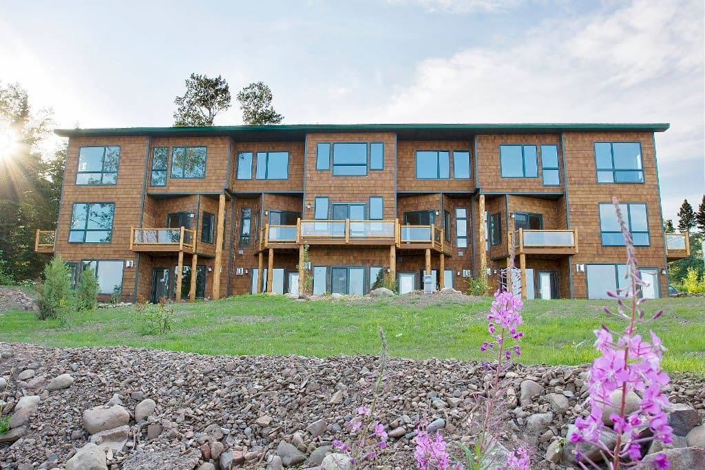 The Aspenwood townhomes feature modern comforts on the shore of Lake Superior.