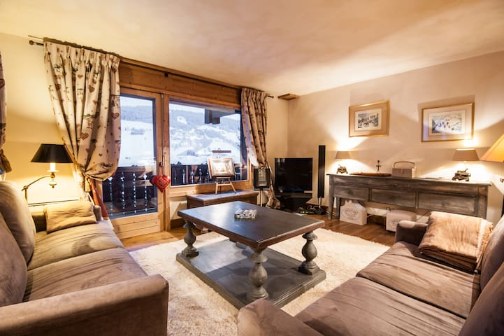 Luxury appart. 300m megeve center
