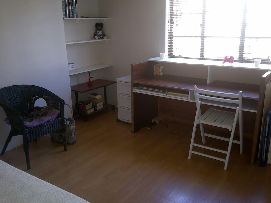 The desk in room 1