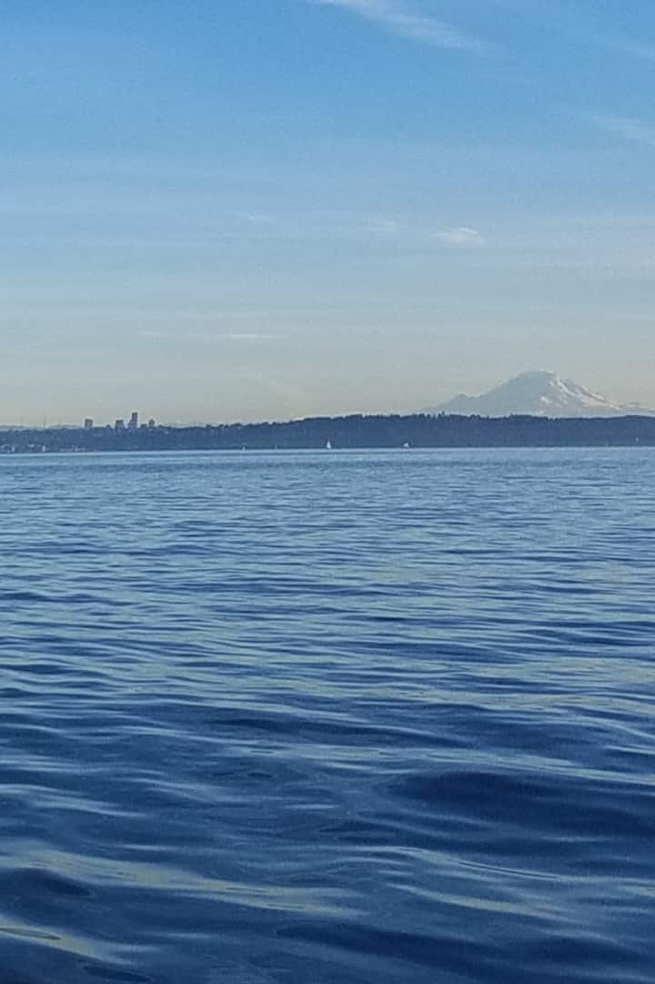 On a clear day you can see Mount Rainier