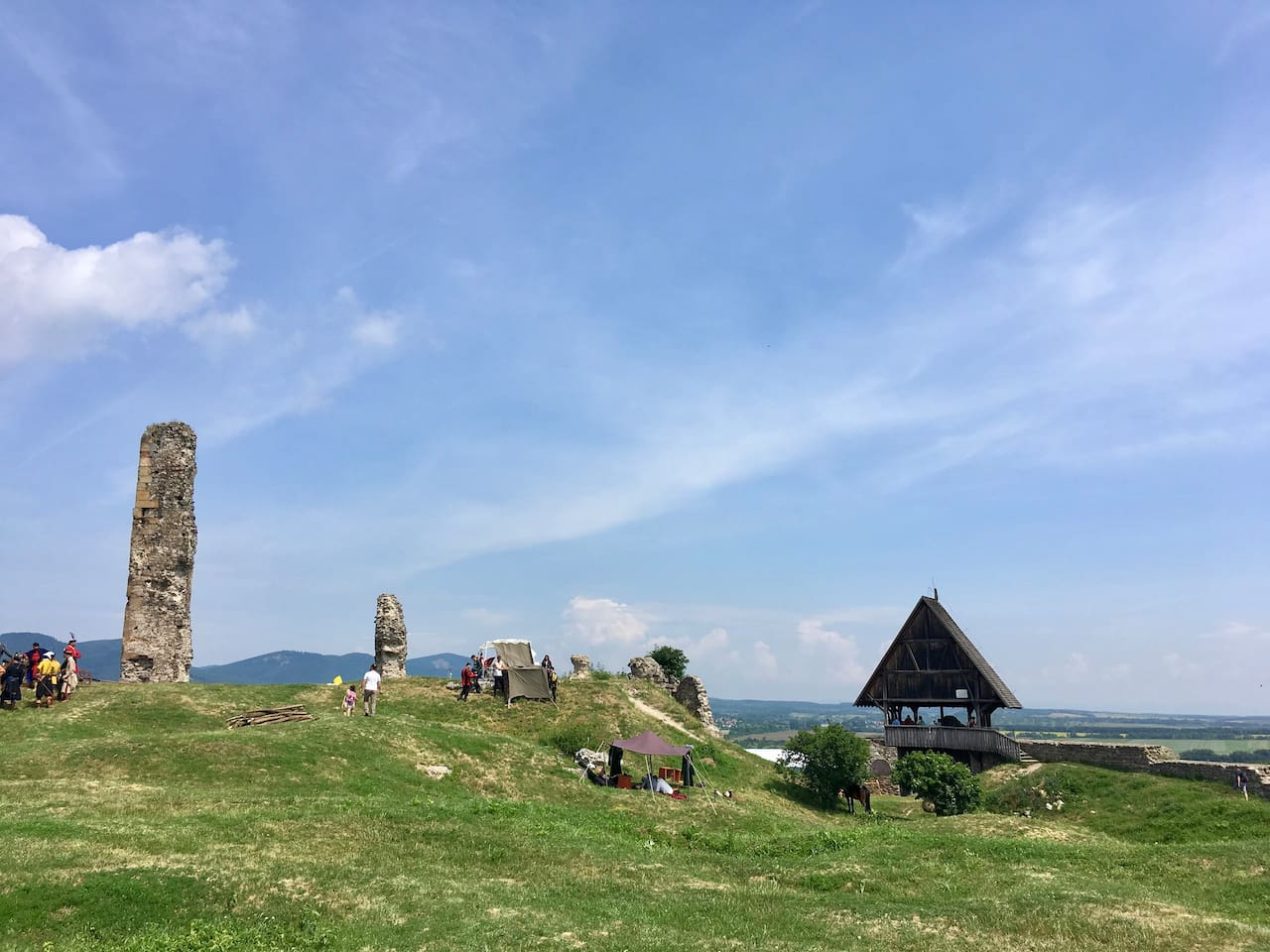Nógrád vára, fent a várdombon. - The ruins of Castle of Nograd