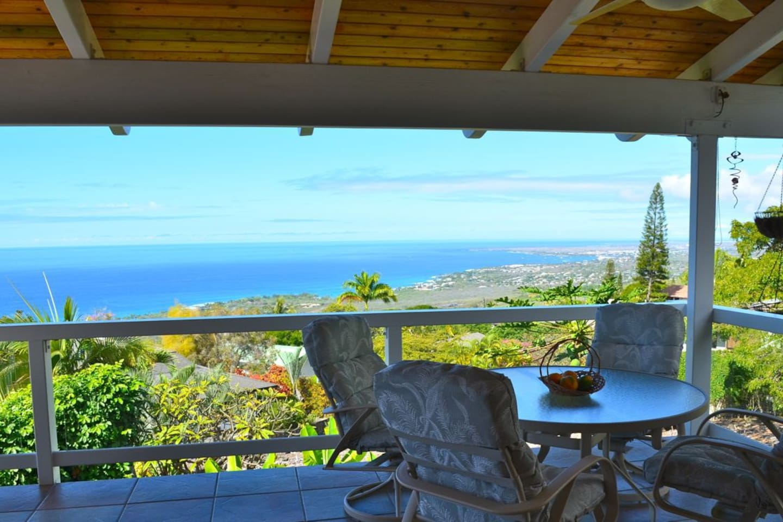 Lanai, looking towards Kailua Bay & Village