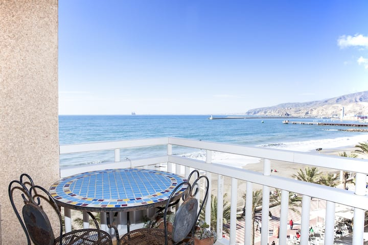 Two balconies over the sea!!