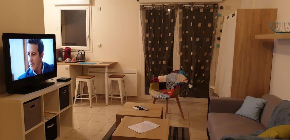 Studio 2-3 personnes (couple + enfant)