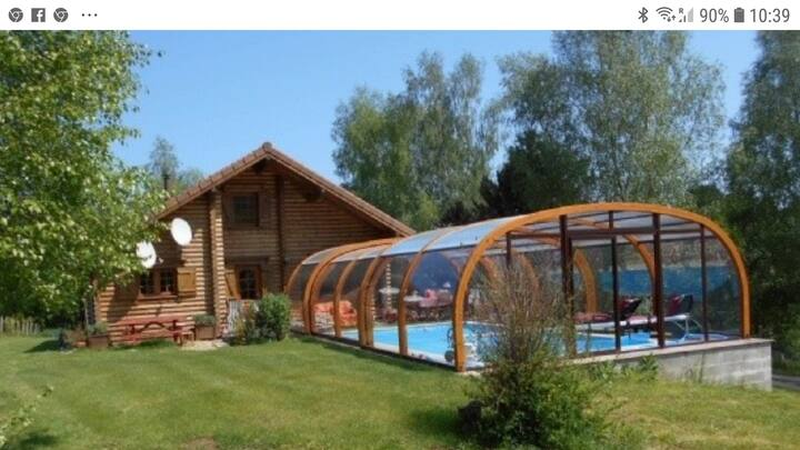 Fabulous Swiss Chalet with swimming pool in France