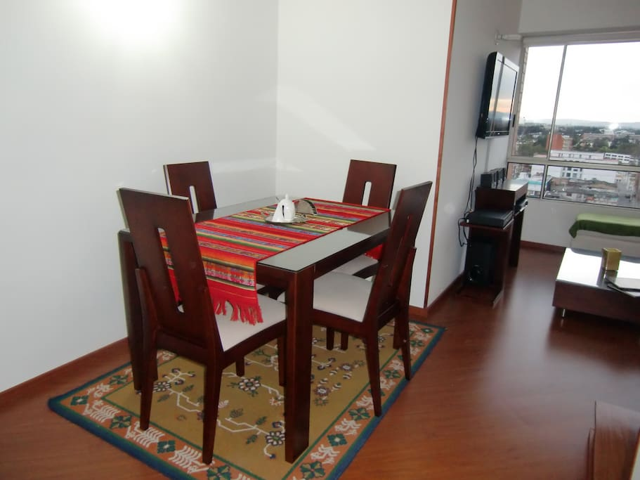 Dining room with table for 4 people