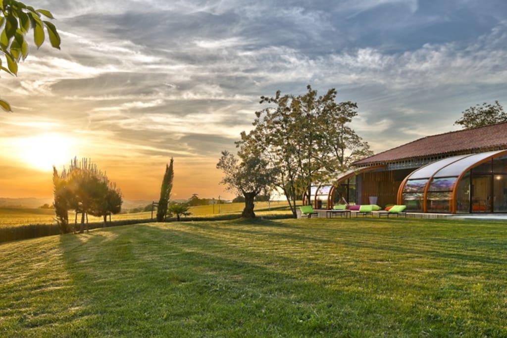 Gers - Gîte rural LaBoubée - Sainte-Marie - Couché de soleil