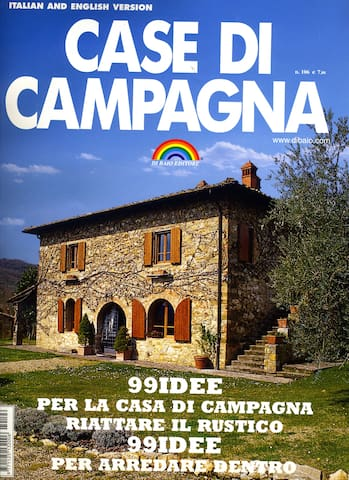 "Our house on the first page of ""Case di Campagna"""
