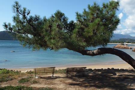 Mini villa climatisée, plage de Cala Rossa à pied. - Lecci
