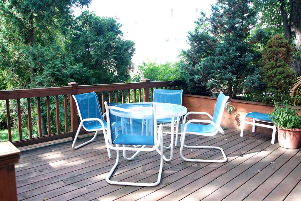 Relax on the deck with your family and friends