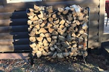 We try to keep firewood stacked for the wood stove!