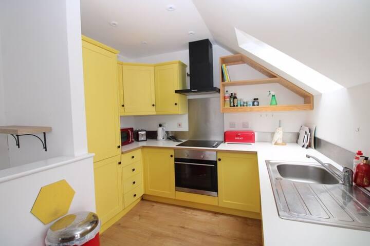 modern loft-style city apartment