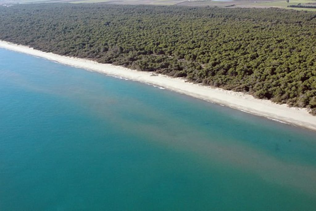 De Ionische kust op slechts 20 minuten afstand.