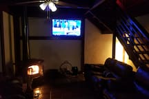 Living Room, TV, Couches, Fire Place