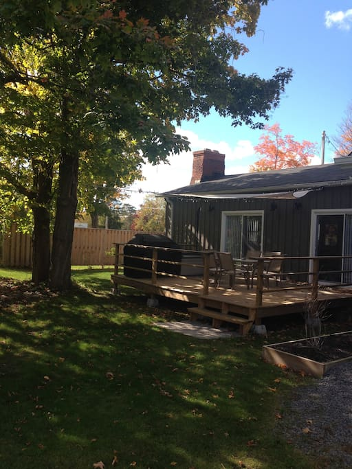 Large deck located off living room/kitchen