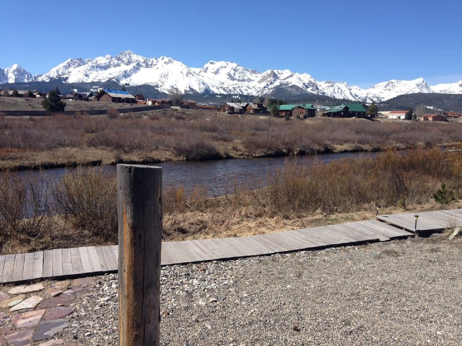 Front Deck with view of Sawtooths