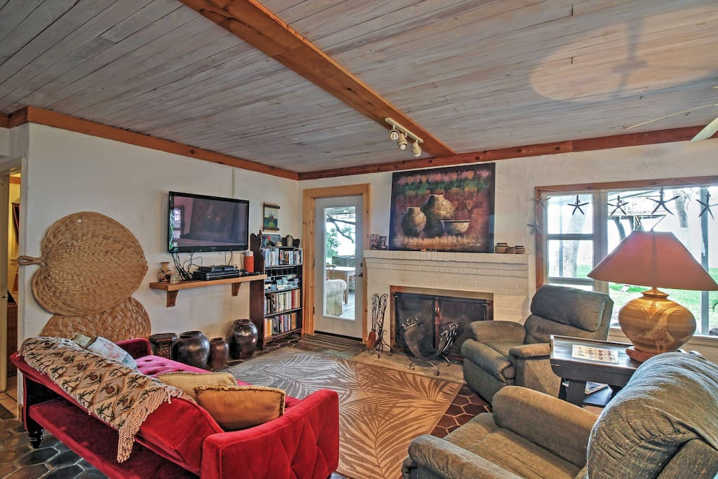 You'll feel right at home in the spacious living room.