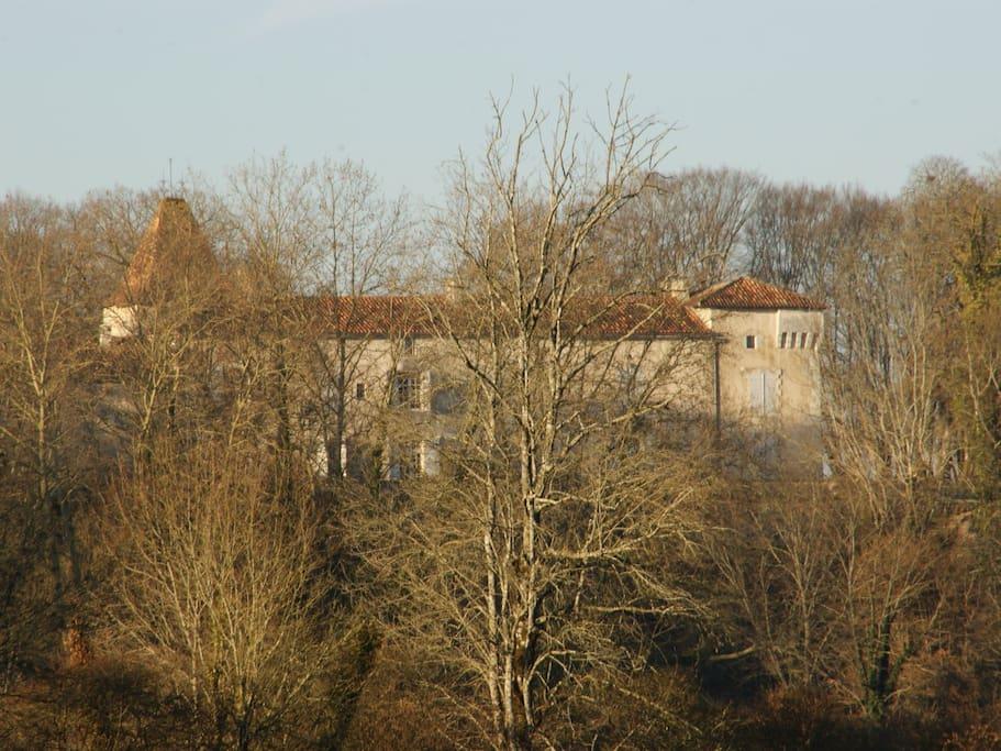 Château de La Combe in winter