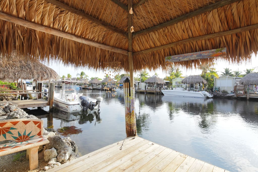 Key Largo Waterfront Home With Tiki Amp Boat Dock Cottages