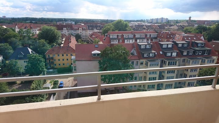 Centrally located with nice view!