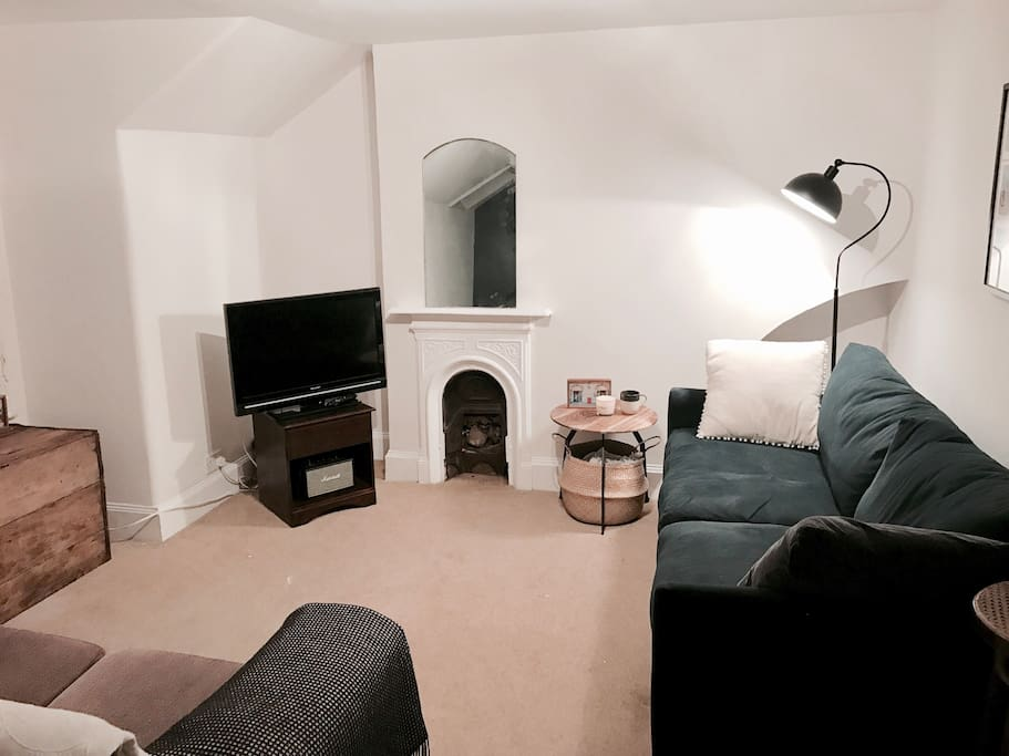 Living Room overlooking residential street